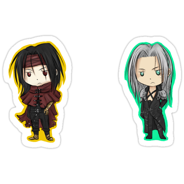 Final Fantasy 7 Stickers 2 by Hannah Golden