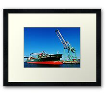 Evergreen Shipping Framed Print