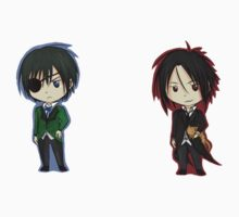 Black Butler Stickers by SamuraiWARRIOR7