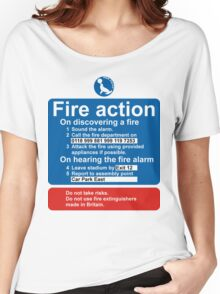 Sea Parks Fire Action Women's Relaxed Fit T-Shirt