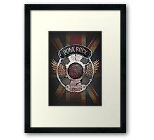 Punk Rock Legacy Grunge Logo - Vintage Framed Print