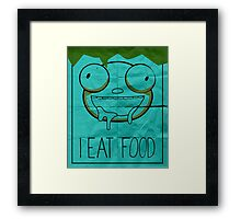 I EAT FOOD (Invader Zim) Framed Print