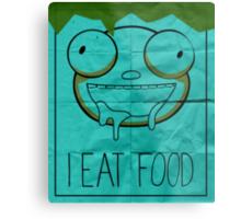 I EAT FOOD (Invader Zim) Metal Print