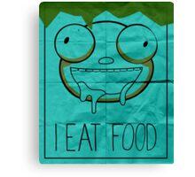 I EAT FOOD (Invader Zim) Canvas Print
