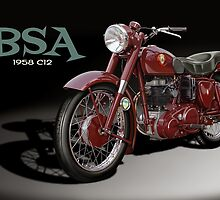 BSA C12 1958 by Tony  Newland