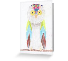Bemused Jeweled Owl Greeting Card