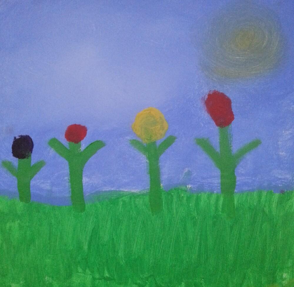 Four Flowers on the Praire by EstebanFontz