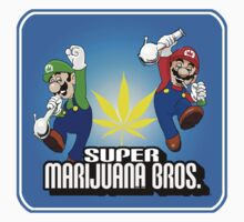 Super Marijuana Brothers stickers by mouseman