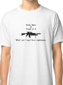 Noob Tuber 2 (black text) Classic T-Shirt