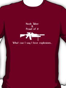 Noob Tuber 2 (white text) T-Shirt