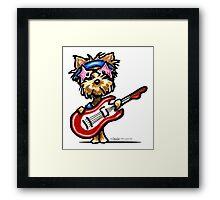 Yorkie Rock Star Framed Print