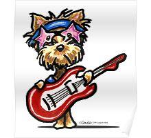 Yorkie Rock Star Poster