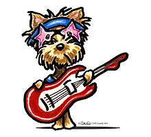 Yorkie Rock Star Photographic Print