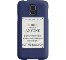 3 Whovian Words Samsung Galaxy Case/Skin