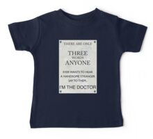 3 Whovian Words Baby Tee