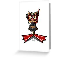 Snorkel Yorkie Greeting Card