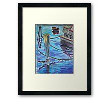 Watercolor Sketch - Sausalito Docks. 70 Issaquah Dock. 2013 Framed Print