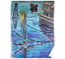 Watercolor Sketch - Sausalito Docks. 70 Issaquah Dock. 2013 Poster
