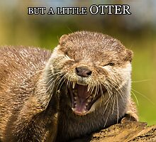 Laughing Otter Birthday Greeting Card by Moonlake