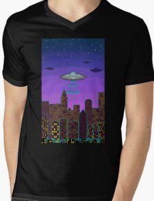 City Night Mens V-Neck T-Shirt