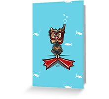 Snorkel Yorkie Funny Any Occasion Card Greeting Card