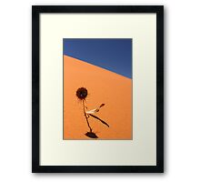 Sand, Sky and Sunflower Framed Print