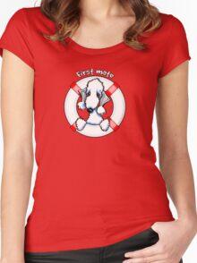Bedlington Terrier :: First Mate Women's Fitted Scoop T-Shirt