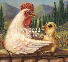 Madonna Hen 2 by Cindy Schnackel