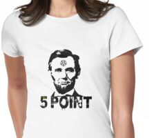 Abraham Lincoln 5 point Womens Fitted T-Shirt