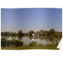 Houseboat on the Clarence River Poster