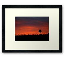 Sunset Silhouette Hana, Maui, HI Framed Print