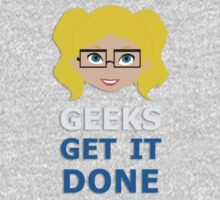 Geeks get it Done One Piece - Long Sleeve