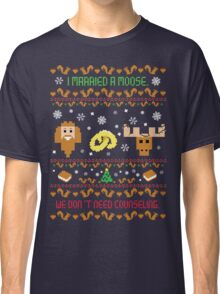 I Married A Moose Christmas Sweater Classic T-Shirt