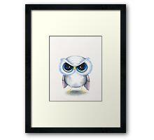 Grumpy Bird Framed Print