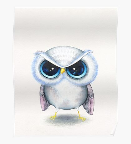 Grumpy Bird Poster