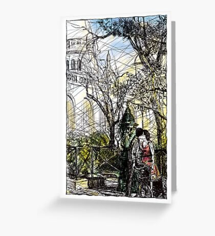 Montmartre 10 in colour Greeting Card