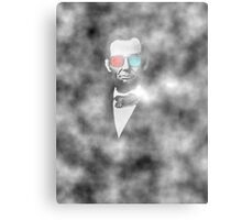 Abraham Lincoln 3d glasses  Metal Print