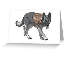 Support Military/Service Dogs Greeting Card