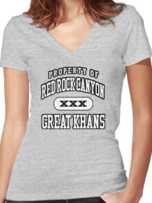 Great Khans Athletic Women's Fitted V-Neck T-Shirt