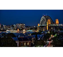 Sydney Harbour Bridge from Observatory Hill Photographic Print