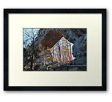Natural Bridge Underside, Slade KY Framed Print