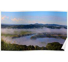 Mist over Tweed Valley Poster
