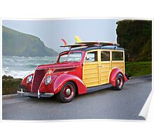 1937 Ford Woody Wagon Poster