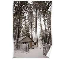 Cabin in the snowy woods Poster