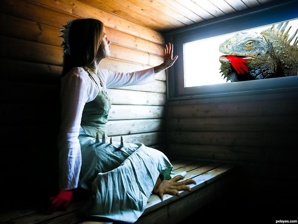 Iguana Sauna Romauna by Randy Turnbow