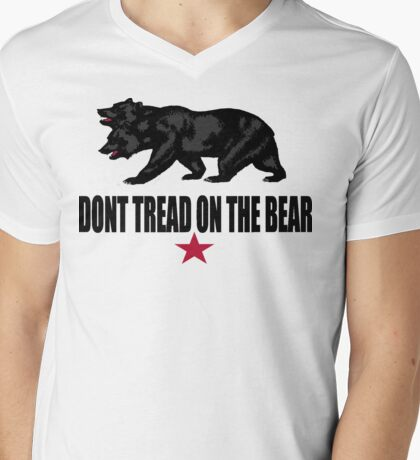 Don't Tread on the Bear Mens V-Neck T-Shirt
