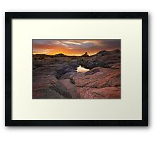 Rock Swept Framed Print