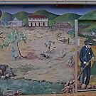 Mural, seeking gold, Sofala, NSW, Australia by Margaret  Hyde