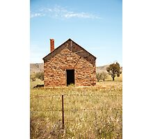 Abandoned stone cottage in the countryside Photographic Print