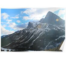 Lanscape view of mountains Poster